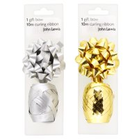 John Lewis gift bow & curling ribbon
