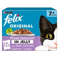 PURINA® FELIX® Senior Cat Variety Selection in Jelly Wet Food pouch