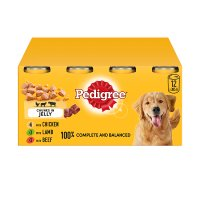 Pedigree chunks in jelly variety pack