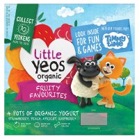 Little Yeos 4 organic fruity favourites yogurts