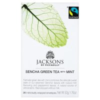 Jacksons Fairtrade sencha green tea with mint 20 tea bags