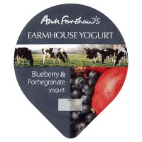 Ann Forshaw's blueberry pomegranate yogurt