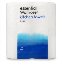 essential Waitrose white kitchen towels
