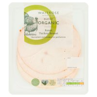 Waitrose Duchy Organic roast turkey breast, 4 slices