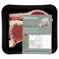 Waitrose 2 hand cut Welsh lamb rack cutlets