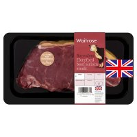 Waitrose Hereford beef sirloin steak