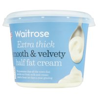 essential Waitrose half fat extra thick cream