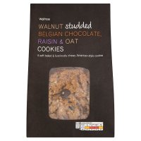 Waitrose walnut, chocolate, raisin & oat cookies