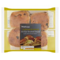 Waitrose richly fruited buns