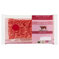 Waitrose Hereford lean beef mince, 10% fat