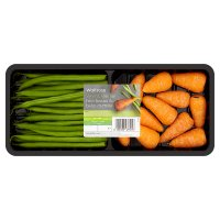 Baby carrots & & fine beans