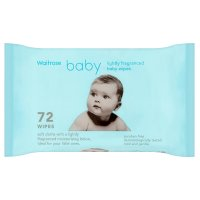 Waitrose lightly fragranced baby wipes, pack of 72 wipes