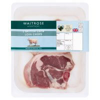 Waitrose 2 hand cut Welsh lamb loin chops