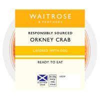 Waitrose Orkney dressed layered crab