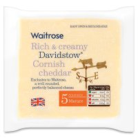 Waitrose Davidstow Cornish mature Cheddar cheese, strength 5