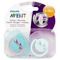 Philips Avent 6-18month birdie soothers, pack of 2