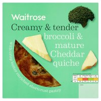 Waitrose broccoli & Gruyère quiche