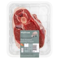 Waitrose New Zealand half leg of lamb