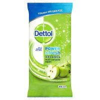 Dettol Power & Fresh cleaning wipes, green apple