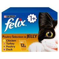PURINA® FELIX® Adult Cat Poultry Selection in Jelly Wet Food Pouch