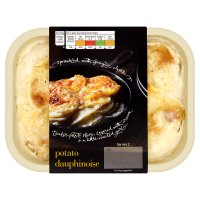 menu from Waitrose Rich, creamy potato dauphinoise