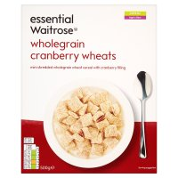 essential Waitrose wholegrain cranberry wheats