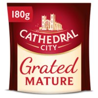 Cathedral City mature grated Cheddar cheese