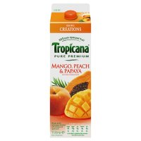 Tropicana mango, peach & papaya juice