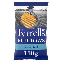 Tyrrells furrows sea salted crisps