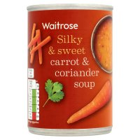 Waitrose carrot & coriander soup