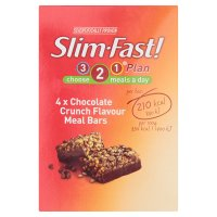 Slim.fast! chocolate crunch 4 pack meal bar