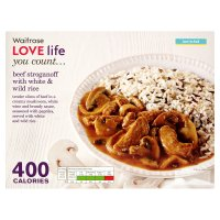 Waitrose LOVE Life you count  Beef Stroganoff with white and wild rice
