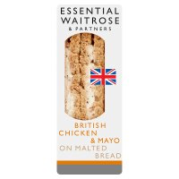 essential Waitrose roast chicken & mayo sandwich
