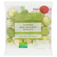 Waitrose Trimmed baby sprouts