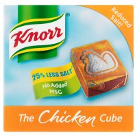 Knorr chicken reduced salt 6 pack stock cubes