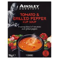 Ainsley Harriott tomato & grilled peppers cup soup, 4 servings