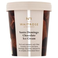 Waitrose Seriously creamy Santa Domingo chocolate ice cream