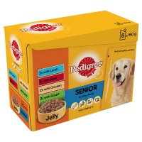 Pedigree senior pouch selection jelly