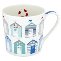 Waitrose small beach huts mug