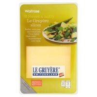 Waitrose Swiss medium Gruyère cheese, strength 3, 6 slices