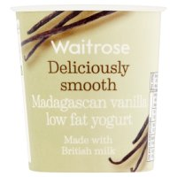 Waitrose deliciously smooth madagascan vanilla low fat yogurt