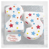 25th Birthday stars and dots cake