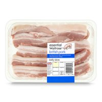 essential Waitrose British Outdoor Bred pork belly slices