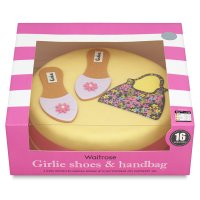 Waitrose Girlie Shoes & Handbag cake