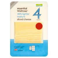essential Waitrose lighter 4 mature cheese 10 slices