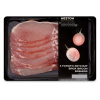 Heston from Waitrose 6 Tomato Ketchup Back Bacon Rashers