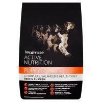 Waitrose active nutrition puppy rich in chicken