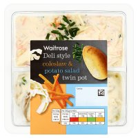 Waitrose deli style coleslaw & potato salad twin pot