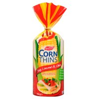 Real Foods soy & linseed corn thins