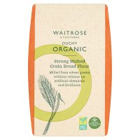 Waitrose organic malted grain bread flour